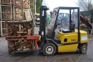 Het laden en lossen van containers